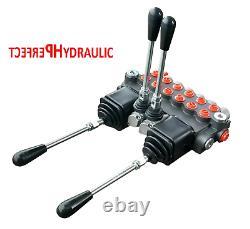 6 BANK 2 Joysticks Monoblock Hydraulic Directional Control Valve 11gpm 40L DA