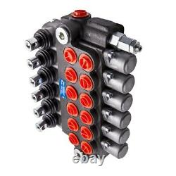 6 Spool Hydraulic Control Valve Double Acting 11 GPM 3600 PSI SAE Ports