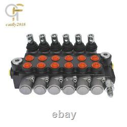 6 Spool Hydraulic Control Valve Double Acting 13 GPM 3600 PSI SAE Ports