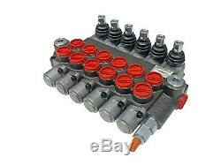 6 Spool Hydraulic Control Valve Double Acting 13 GPM 3600 PSI SAE Ports NEW