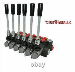 6 Spool Hydraulic Directional Control Valve 11gpm, Double Acting Cylinder 40 L