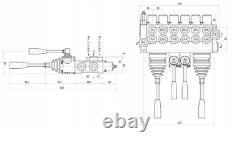 6 Spool Hydraulic Directional Control Valve 2x JOYSTICK 11gpm 40L 6x Double 6xDA