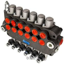 6 Spool Hydraulic Directional Control Valve Double Acting Cylinder 80l/min 21GPM