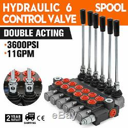 6 Spool Hydraulic Directional Control Valve Monoblock Valve 11gpm For Tractors