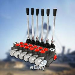 6 Spool Hydraulic Valve 1/2 BSPP Hydraulic Directional Control Valve 11gpm