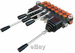 7 BANK 2 Joysticks Monoblock Hydraulic Directional Control Valve 11gpm 40L