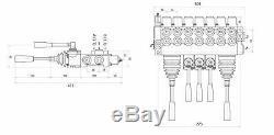 7 Bank 2 Joysticks Monoblock Hydraulic Directional Control Valve 11gpm 40L/M