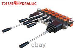7 SPOOL 2 Joysticks Monoblock Hydraulic Directional Control Valve 11gpm 40L