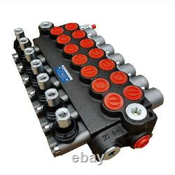 7 Spool Hydraulic Directional Control Valve 13GPM for Tractors Loader, Adjustable