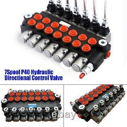 7 Spool Hydraulic Directional Control Valve 13gpm, Double Acting Cylinder Spool