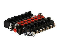 7 spool hydraulic solenoid directional control valve 13gpm 12VDC, monoblock