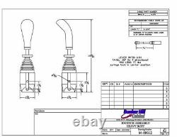 Cable Control Joystick, for Remote Hydraulic Valves, Dual Axis, HEAVY DUTY