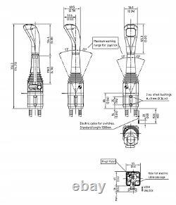 Cable Remote Control Valve Kit 2 Spool Valve 40l Cables Joystick Center Open