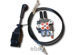 Cable remote control valve kit 2 spool valve 40lpm/ 11gpm + cables + joystick
