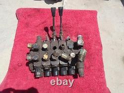 Commercial Intertech 4-spool Hydraulic Control Valve Model 346-9203-011