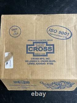 Cross Hydraulic Double Spool 3-Position 4-Way Closed Center Control Valve USA