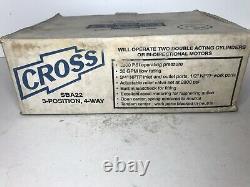 Cross SBA22 3 Position, 4-way Hydraulic Control Valve New
