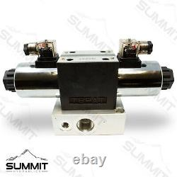 Electric Hydraulic Double Acting Control Valve with Rocker Switch, 1 Spool, 25 GPM