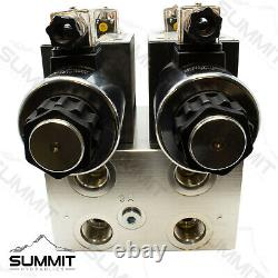 Electric Hydraulic Double Acting Control Valve with Rocker Switch, 2 Spool, 25 GPM