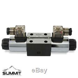 Electronic Hydraulic Double Acting Directional Control Valve, 4 Spool, 15 GPM
