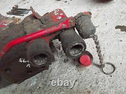 Farmall 460 560 tractor IH hydraulic control right valve & quick connect ends