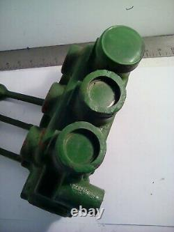 Gresen 3 Spool Hydraulic Control Valve, No 2703 Double Acting With Relief, Used