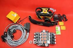 HYDRAULIC BANK MOTOR 4 SPOOL BANK SOLENOID CONTROL VALVE 50 l 12V + RADIO