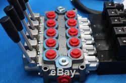 HYDRAULIC BANK MOTOR 5 SPOOL VALVES 60 l/min 24 V + JUUKO CONTROL PANEL WIRELESS