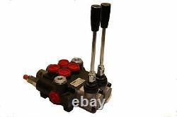 HYDRAULIC CONTROL VALVE TWO SPOOL 10 GPM WithFLOAT SPOOL 3625 PSI MAX OPEN CENTER