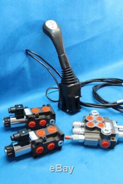 HYDRAULIC KIT VALVE + SOLENOID + CONTROL JOYSTICK FORK LIFT 4 sections 80 l/min
