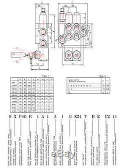 HYDRAULIC KIT VALVE + SOLENOID + CONTROL JOYSTICK JOHN DEERE 4 sections 80 l/min
