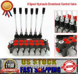 High Quality 6 Spool Hydraulic Directional Control Valve 11gpm Double Acting New