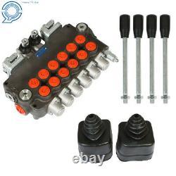 Hydraulic Backhoe Directional Control Valve with 2 Joysticks, 6 Spool, 21 GPM
