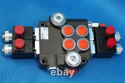 Hydraulic Bank Motor 2 Spool Bank Solenoid Control Valve 50 Lpm Case John Deere