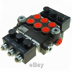 Hydraulic Bank Motor 3 Spool Bank Solenoid Control Valve 50 Lpm 12v
