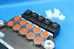 Hydraulic Bank Motor 5 Spool Bank Solenoid Control Valve 50 Lpm 24 V