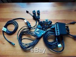 Hydraulic Bank Motor 5 Spool Valves 50l/min Electric 12v + Control Panel Kit