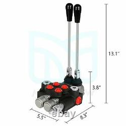 Hydraulic Control Valve 2 Spool 11GPM Double Acting Tractor Loader With Joystick