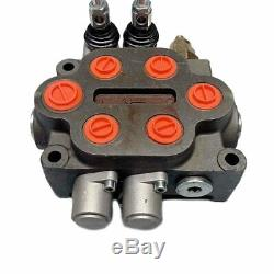 Hydraulic Control Valve 2 Spool Ractors Loaders Log Splitter3/4 BSP In/Out Port