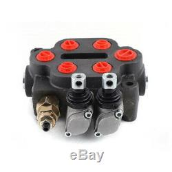 Hydraulic Directional Control Valve for Tractor Loader with Joystick, 2 Spool, 25