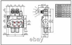 Hydraulic Flow Control Valve 3/4 BSP Ports 3 Spool 80 Lt/M MONOBLOCK TILT TRAY