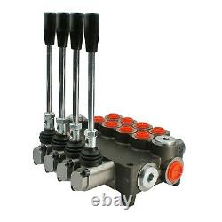 Hydraulic Lever Control Spool Valve, 3/8 x 1/2 Ports, 40-80 Lpm, 1-7 sections