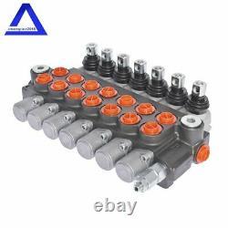 Hydraulic Monoblock Double Acting Control Valve11 GPM, 7 Spool, SAE Ports