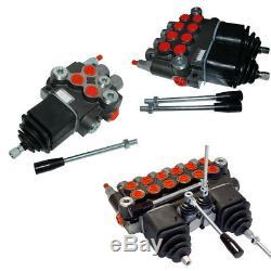 Hydraulic Monoblock Lever Control Spool Valve, 1/2 x 3/4 Ports, 90lpm, 1-6 Bank