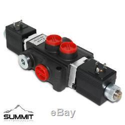 Hydraulic Monoblock Solenoid Motor Control Valve, 1 Spool, 13 GPM, 12V DC