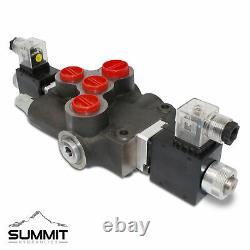 Hydraulic Monoblock Solenoid Motor Control Valve, 1 Spool, 21 GPM, 12V DC