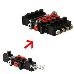 Hydraulic Solenoid Control Spool Valve, 3/8 / 1/2 BSP, 50lpm, 1-4 Bank, 12 / 24v