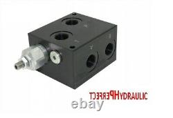 Hydraulic Valve Control Solenoid Valve 1 section CETOP 03 NG6 60l / min 12V