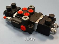 Hydraulic solenoid directional control valve, 2-bank, 13gpm, Z50 A ES3 12VDC