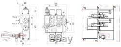 Joystick 2mtr Cable Control 2 Bank Hydraulic Lever Spool Valve, 1/2 / 3/8 BSP